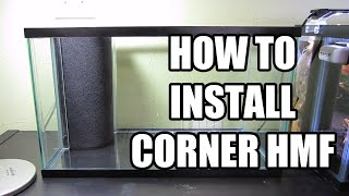 How to Install Corner Hamburger Mattenfilter (HMF) in Aquarium