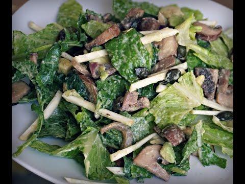 Mushroom Zucchini Salad | Gluten Free, Dairy Free Recipe