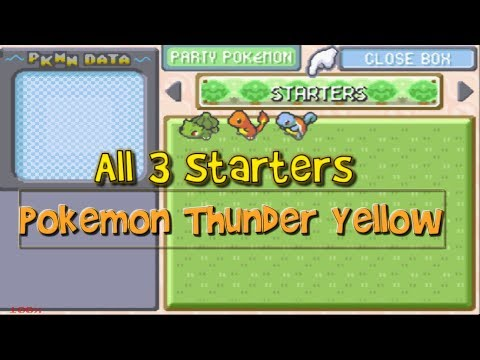 Get All 3 Starters In Pokemon Thunder Yellow!