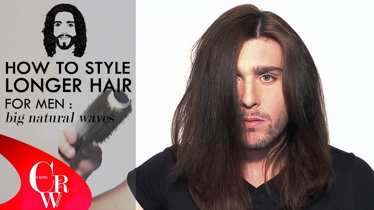 Long Hair for men: natural wavey look how to / styling tutorial