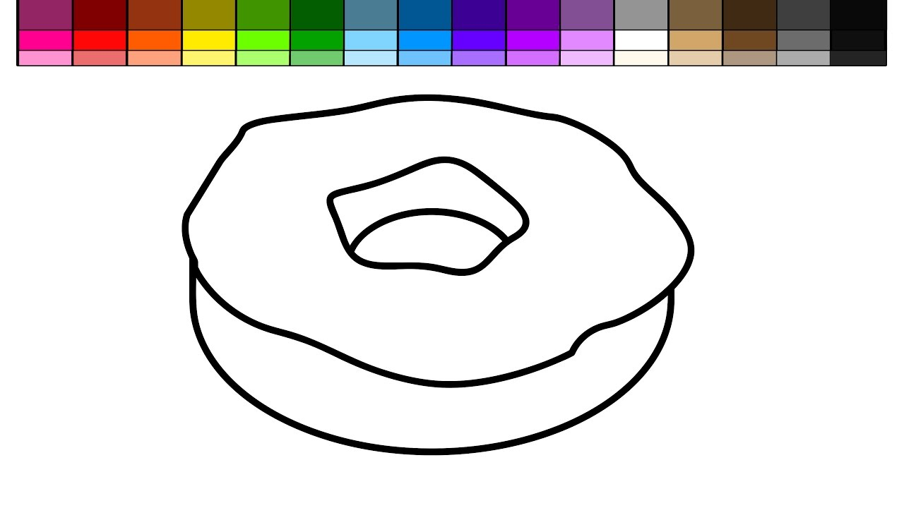 Learn Colors for Kids and Color Vanilla Donut with Sprinkles ...