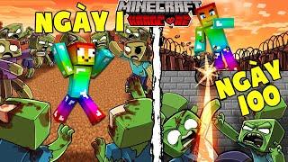 T Gaming Tóm Tắt 100 Ngày Sinh Tồn Minecraft Tận Thế Zombie Siêu Khó !!