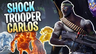 FORTNITE - Shock Trooper Carlos Save The World Gameplay