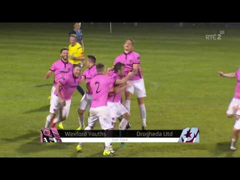 Wexford Youths 2-0 Drogheda United - Prem Div Playoff 1st Leg - 31st Oct 2016