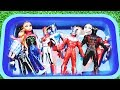 Learn Characters with Pool of Toys Frozen,Elsa,Anna, Ultraman Ginga,Barbie in Pool for Kids