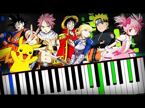 Anime Piano Medley 【Openings, OST, Theme Songs, OP】 Tutorial (Sheet Music + midi) Synthesia cover thumbnail