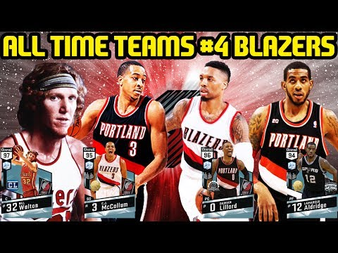 ALL TIME TEAMS #5 PORTLAND TRAILBLAZERS! NBA 2K17 MYTEAM ONLINE GAMEPLAY