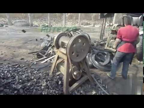 Semi Automatic Tyre Cutting System   Waste Scrap Tyre Cutting Machine Line For Tyre Recycling