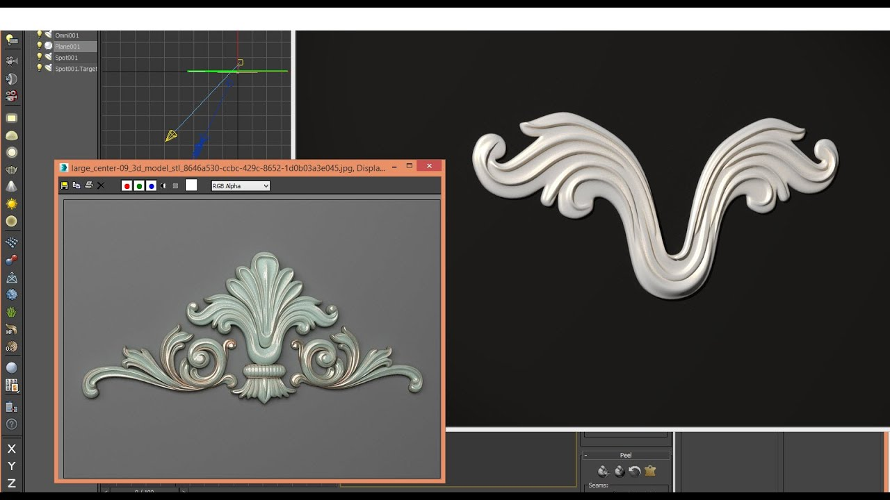 3ds max tutorial 3d classical decor step 1 youtube for Tutorial 3d max