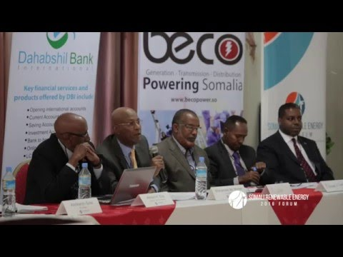 Plenary 1: The Future of Renewables in the Somali Context