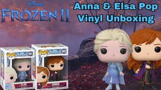 Anna And Elsa Pop Vinyl Unboxing