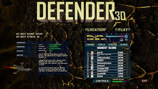 Williams DEFENDER Arcade Game - Inspired Modern Remake for the PC