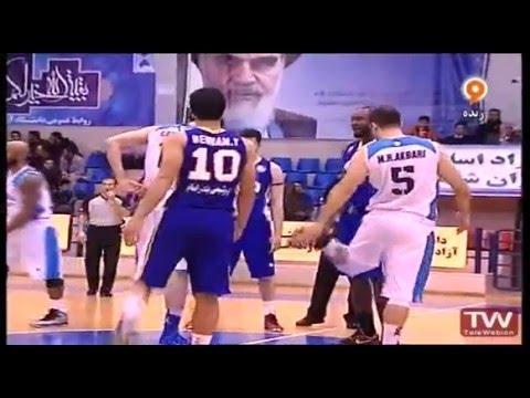 Azad University Tehran vs Petrochimi Bandar Imam 04/01/2016 Iranian Basketball Superleague Part 1/2