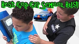 BEST COP CAR SCHOOL BUS EVER!