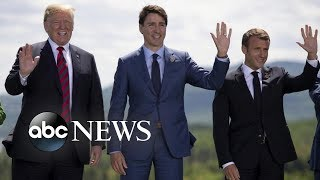 President Trump meets with world leaders at G7 summit
