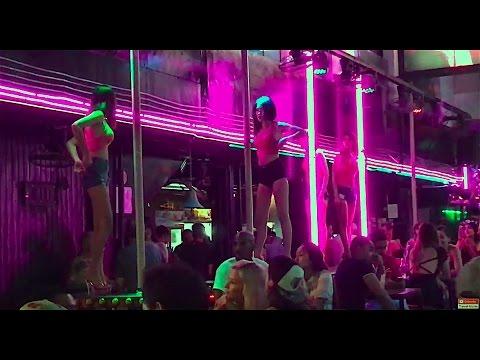 Patong Beach Nightlife Bangla Road Walking Street Phuket Thailand 4K RAW Uncut Footage