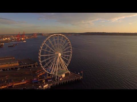 The Seattle Great Wheel (Full 360) | 4k