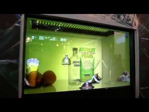 Interaktie projektion touchscreen beamer projektor elektrochromes glas folie youtube - Couchscreen leinwand ...