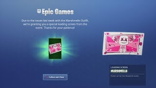 EPIC Games Gifting Fortnite Players -FREE ' Marshmello Loading Screen Image