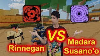 Madara Mangekyou VS Rinnegan! Which one will win? Roblox: NRPG Beyond