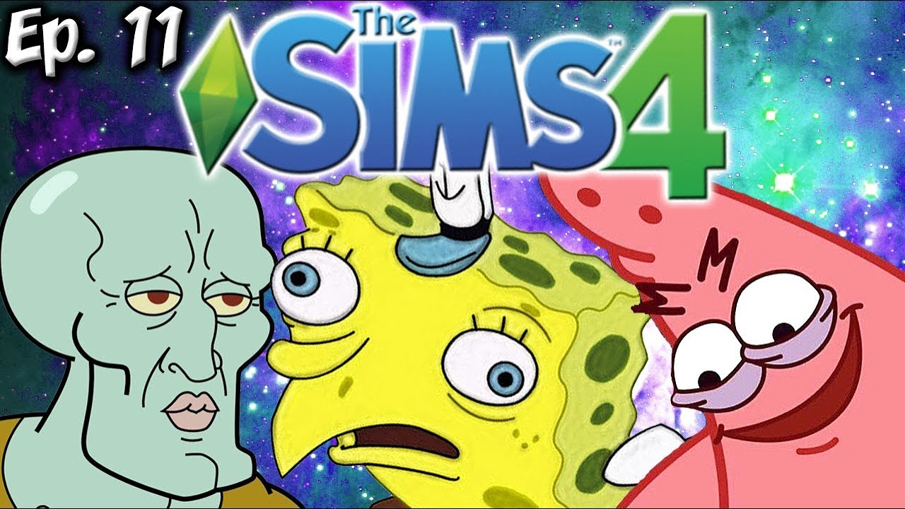 All the spongebob memes the sims 4 memes theme ep 11