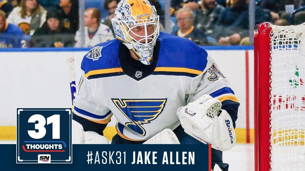 Jake Allen St. Louis Blues Player Swingman Jersey