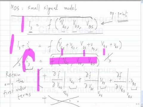 lecture 12 MOS large signal and small signal models