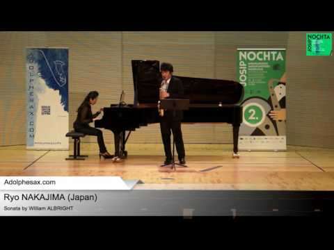 Sonate by William ALBRIGHT – Ryo NAKAJIMA (Japan)