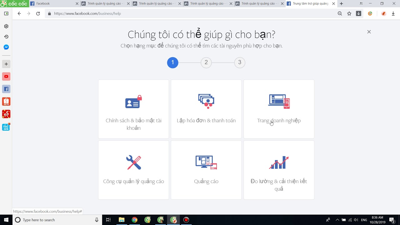 1. Chat Support Facebook nhờ hỗ trợ quảng cáo