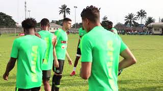 SUPER EAGLES TRAINING ahead of the FIFA 2018 WORLD CUP IN RUSSIA
