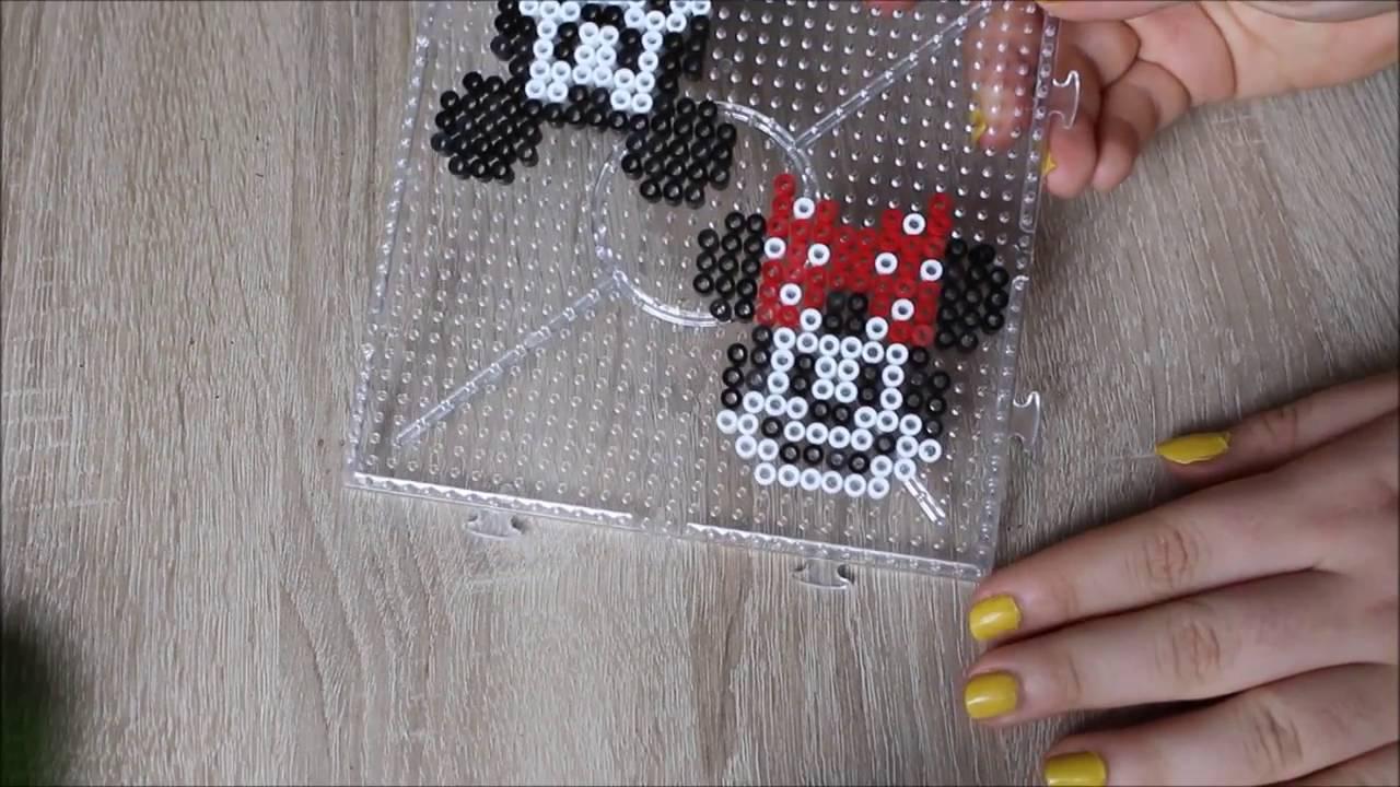 Diy Mickey Minnie En Perles Hama Perler Beads Mickey Minnie