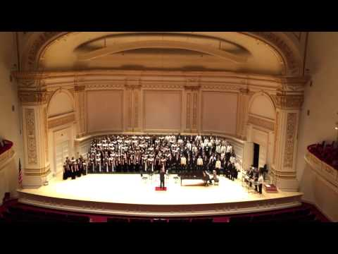 Gaudete -  Performed by Indianapolis Youth Chorale and Mt Eden HS Concert Choir at Carnegie Hall