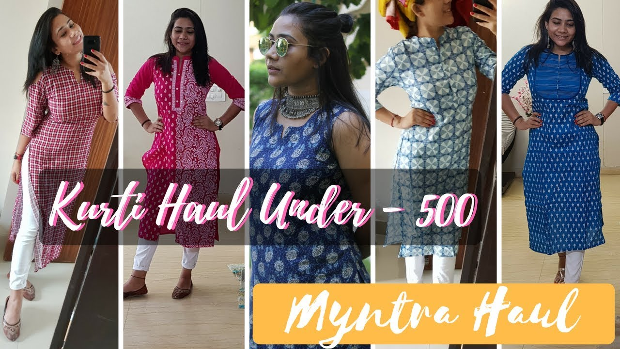 5eca48b27   AMAZING KURTIS   KURTI UNDER RS. 500 FOR DAILY  OFFICE WEAR FROM MYNTRA