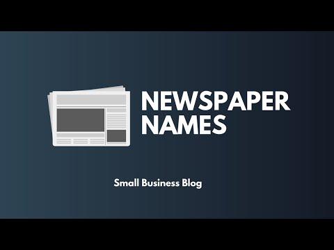 Creative Newspaper Names