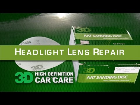 Headlight Repair with AAT sandpaper, AAT Compound and Polish