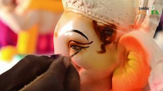 Making of Ganesha/Ganpati and painting of eyes