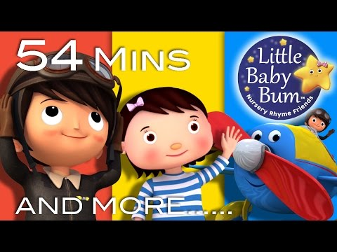 Planes Song  Plus Lots More Nursery Rhymes  54 Minutes Compilation from LittleBaBum!