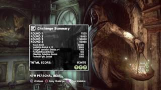 Batman: Returns to Arkham City - Blind Justice EXTREME as BATMAN (Year One) *Personal Best Score*