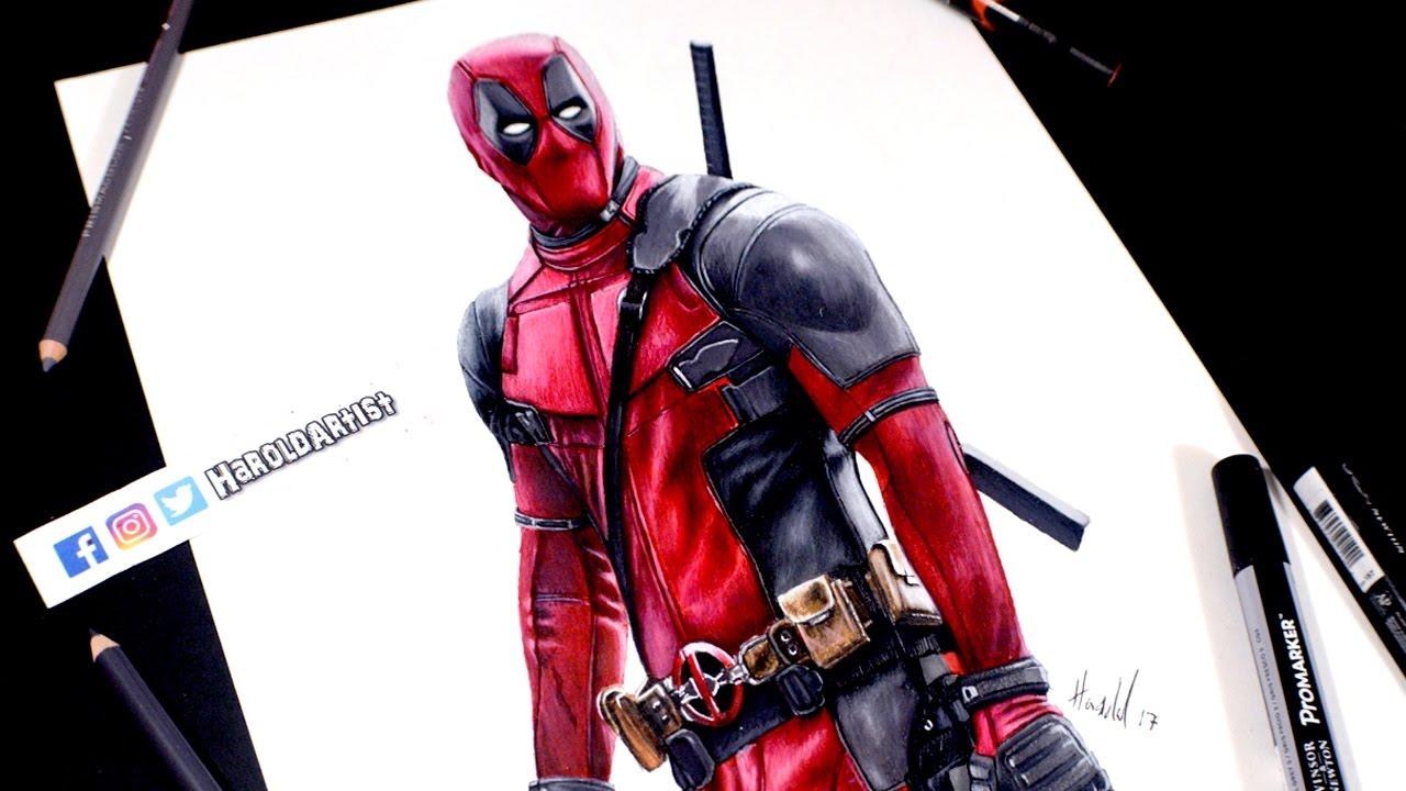 Dibujo De Deadpool Ryan Reynolds Drawing Deadpool Youtube