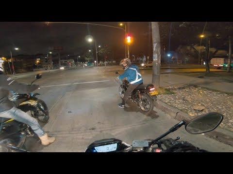 Un borracho manejando moto /// Peligro en la ciudad