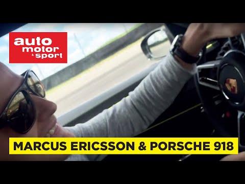 Marcus Ericsson i Porsche 918 Spyder på Anderstorp