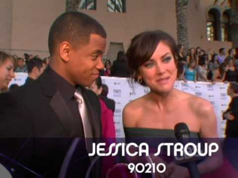 PCA Red Carpet Interview - Tristan Wilds and Jessica Stroup