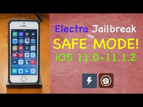 Enter Safe Mode on Electra Jailbreak | Remove Bad Tweaks | iOS 11-11.1.2