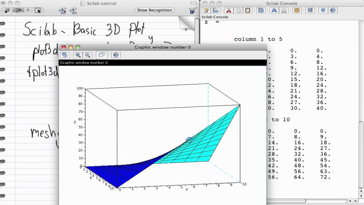 Scilab basic 3d plot thai youtube for 3d plot online