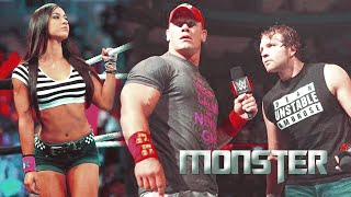 aj lee & dean ambrose ft. john cena ✘ monster