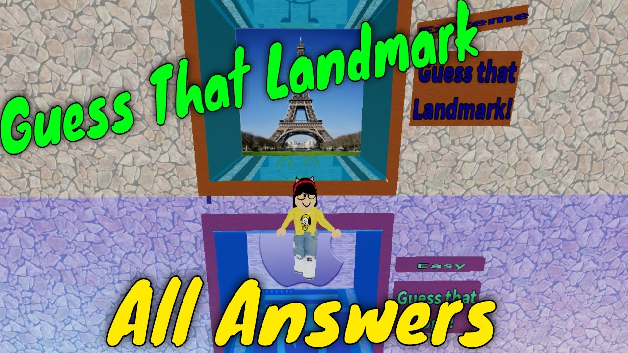 Roblox Guess That Character Guessing All The Landmarks Youtube