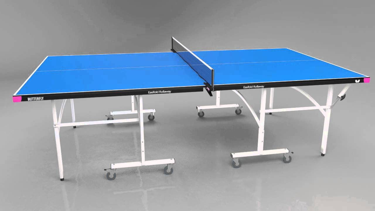 Butterfly Easifold Indoor Rollaway Table Tennis Table   YouTube