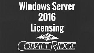 Windows Server 2016 Licensing Simplified