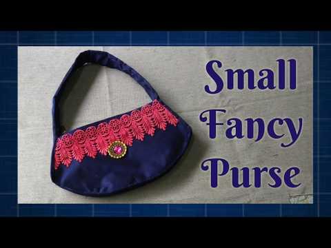 Small Fancy Purse, DIY Indian Lace Purse, DIY Silk Bag