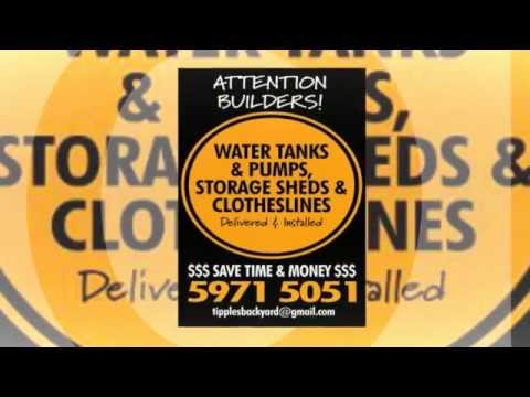 Builders Package Water Tanks Pumps Storage Sheds